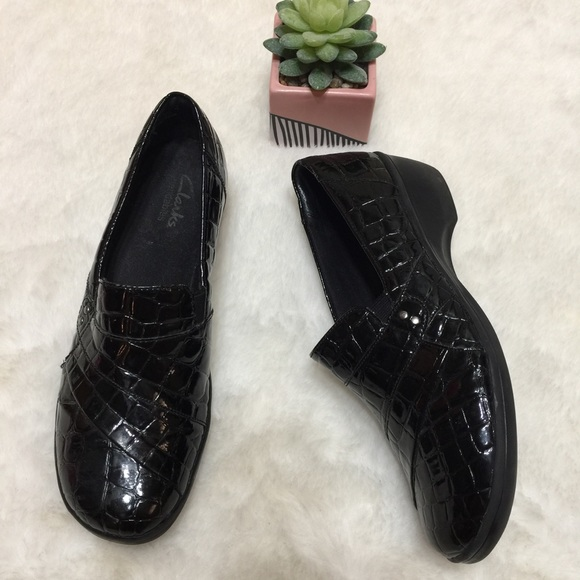 fe443ba8c95 Clarks Shoes - Women s Clarks May Marigold Black Croco Patent